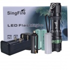 SingFire SF-701A 280lm 3-Mode Hvite Zooming lommelykt m / CREE XR-E Q5 (3 x AAA / 1 x 18650)