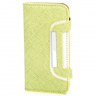 Protective Flip-Open Leather Case for Iphone 5 - Green