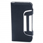 Protective Flip-Open Leather Case for Iphone 5 - Black