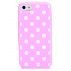 Protective Polka Dots Pattern Silicone Back Case for Iphone 5 - Pink
