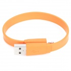 Bracelet Style USB-Stecker an 8 Pin Blitz Aufladen Datenkabel für iPhone 5 + iPad 4 - Orange