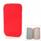 NILLKIN Protective PU Leather Case w/ Screen Protector for Samsung Galaxy Grand Duos i9082 - Red