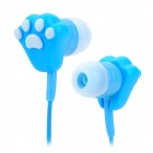 Cute Cartoon Cat-Claw Style In-Ear Earphones for MP3 / MP4 + More - Blue + White (3.5mm-Plug)