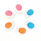 Cute Small Snail Style Plastic Clothes Pegs / Photo Clips - Pink + Orange + Blue (12 PCS)