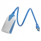 USB 3.0 Male to HDMI Female Display Adapter - Blue + White (40cm-Cable)