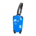 Cute Suitcase Style Secure Travel Suitcase ID Luggage Tag - Blue + Black + White