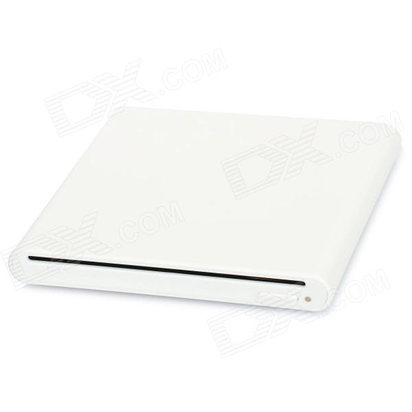 12.7mm External USB 2.0 Slot-in DVD-RW Drive Case Enclosure for Laptop - White