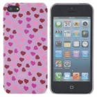 Protective Heart Pattern Back Case for Iphone 5 - Pink