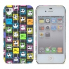 Protective Funny Ghost Head Pattern Back Case for Iphone 4/4S - Multicolored