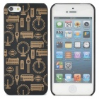 Protective Bus Ferris Wheel Pattern Back Case for iPhone 5 - Black