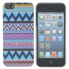 Protective Triangle Pattern Back Case for Iphone 5 - Multicolored