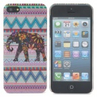 Protective Indian Style Elephant Pattern Back Case for Iphone 5 - Multicolored