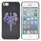 Protective Hell Sword Pattern Back Case for Iphone 5 - Black