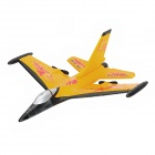 F16 2-CH Radio Control EPP Foam R/C Airplane Glider - Yellow