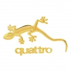 DIY 3D Gecko Metal Car Decoration Sticker - Golden