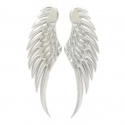 DIY Cool 3D Wings Metal Car Decoration Sticker - Silver