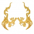 DIY Cool 3D Dragon Metal Car Decoration Sticker - Golden