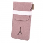 Universal Eiffel Tower Pattern Protective Synthetic Leather Bag for Sony Game Console - Pink