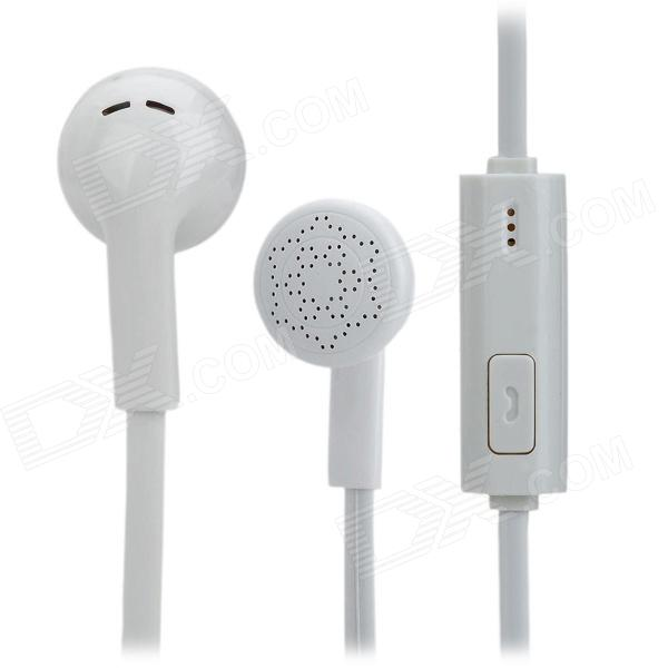 YX1000-02 In-Ear Earphones w/ Microphone for iPhone / iPod / iPad - White (3.5mm Plug / 115cm)