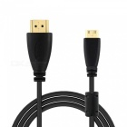 Mini HDMI Male to Standard HDMI Male Connection Cable - Black (300cm)