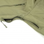 Men's Waterproof Windproof Polyester + Spandex Outdoor Jacket - Army Green (Size-XL)