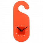 Ultrathin PP Wall Clock - Red + Black (1 x AA)
