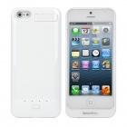 5V 2800mAh External Back Case Lithium Battery w/ Stand for iPhone 5 - White