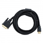 1080P Gold-Plated HDMI Male to 24+1 Pins DVI Male Connection Cable - Black (300cm)