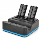 PEGA PG-WU015 3-in-1 Charging Dock Station for Wii U Gamepad and Wii Remote - Black