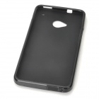 Protective Frosted PVC Back Case for HTC One M7 - Black