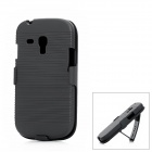 Protective Plastic Clamp Style Case for Samsung i8190 - Black