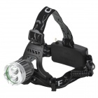 YP-30558 Cree XM-L T6 + XP-E R2 3-Mode 500lm White Headlamp - Grey + Silver (1 / 2 x 18650)