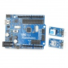 WXM01 DIY ATmega328 UNO R3 Development Board Set for Beginners - Blue + Black