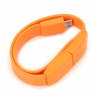 HY-012 Wristband Style USB 2.0 to Micro USB Data Cable for Samsung N7100 / i9300 / i9500 - Orange