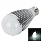 TOHDA TH-LED-7-B E27 7W 600lm 6500K 14-LED White Light Bulb - Silver (AC 85~265V)