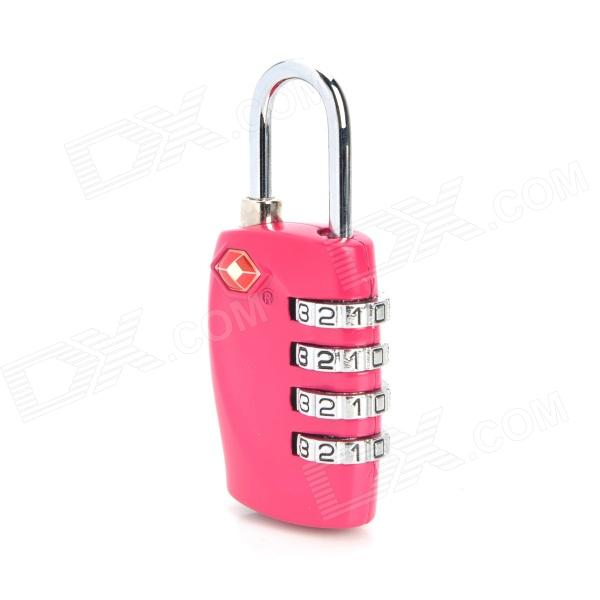 JUST LOCK TSA330 Zinc Alloy 4-Digital Combination Travel Coded Lock - Deep Pink