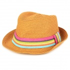 Fashion Straw Hat Sunbonnet for Women - Light Coffee