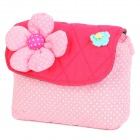 415S1485907 Big Flower Wallet Coin Purse Cell Phone Storage Pouch Bag - Pink