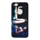Sexy Beauty Pattern Protective Plastic Back Case for Iphone 5 - Black