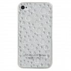 3D Water Drop Pattern Plastic Back Case for iPhone 4 - Transparent
