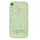 3D Water Drop Style Protective Plastic Back Case for iPhone 4 / 4S - Translucent Green