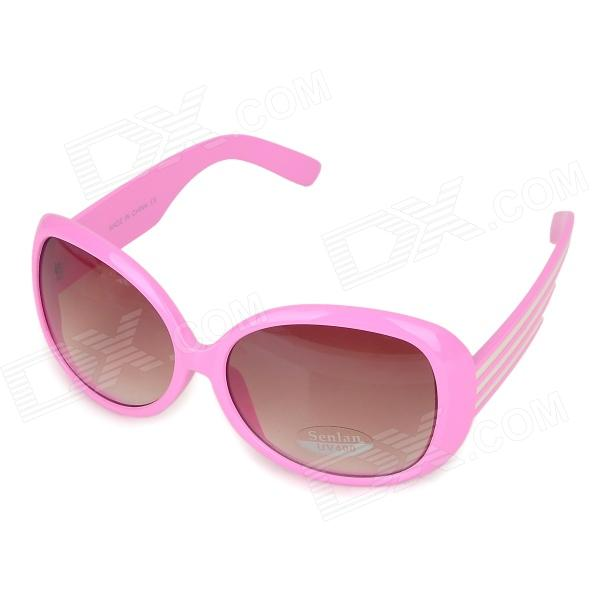 SENLAN 1174 Stylish UV400 Protection Acetate Fiber Frame PC Lens Sunglasses - Pink