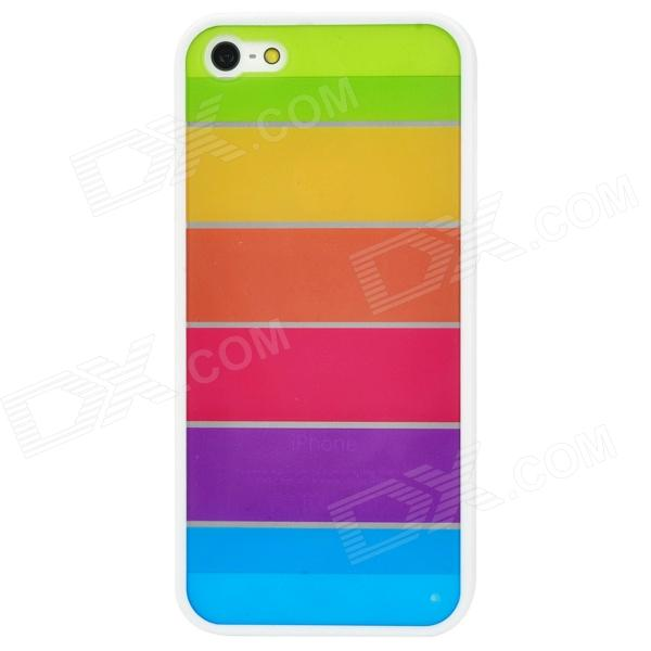 все цены на Rainbow Pattern Protective Plastic + TPU Back Case for Iphone 5 - Multicolor онлайн