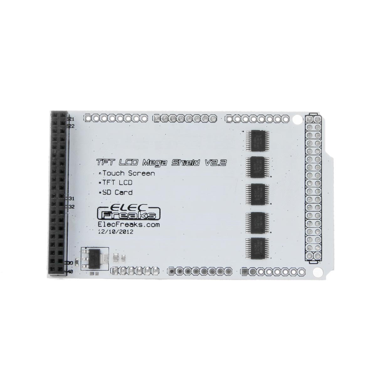 LCD TFT01 Mega Shield V2.0 Adapter Module - White nokia 5110 lcd module white backlight for arduino uno mega prototype