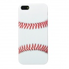 Airwalks Baseball Style PC Back Case for Iphone 5 - White + Red + Transparent
