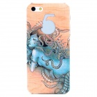 Protective Mermaids Pattern Back Case for Iphone 5 - Sand + Blue