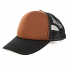 Hip-hop Style Outdoor Sports Hat Cap for Men - Black + Brown