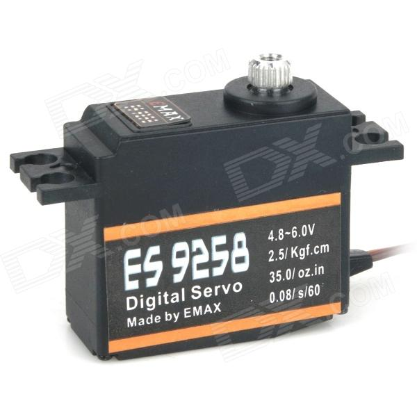EMAX ES9258 27g / 2.5kg / 0.08 Alloy Digital Gear Servo for R/C Helicopter - Black