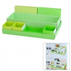 JR-956 Box in Box 7-Compartment Foldable Handcraft Storage Case - Green