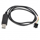 FT232 to USB TTL Upload / Download Wire Scatter Cable - Black (100cm)